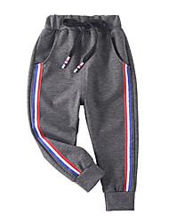 abordables -Enfants Garçon Actif / Basique Couleur Pleine / Bloc de Couleur / Mosaïque Mosaïque / Cordon Coton Pantalons Noir