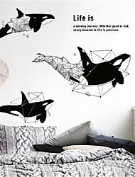 Недорогие -творческая личность кит стикер стены спальня прикроватная гостиная фон наклейки крыльцо коридор украшения обои самоклеящиеся