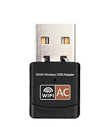 Недорогие -USB Wi-Fi 600 Мбит / с двухдиапазонный 802.11ac USB-адаптер Интернет