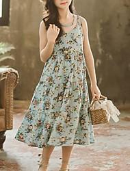 voordelige -Kinderen Meisjes Bloemen Jurk blauw