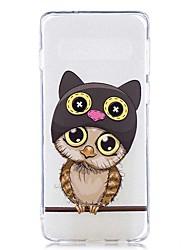 halpa -Etui Käyttötarkoitus Samsung Galaxy Galaxy S10 Plus / Galaxy S10 E Läpinäkyvä / Kuvio Takakuori Kissa Pehmeä TPU varten S9 / S9 Plus / S8 Plus
