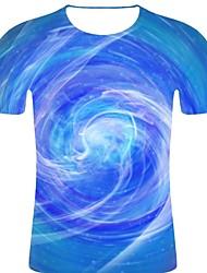 voordelige -Heren Rock / overdreven Print T-shirt Gestreept / 3D / Grafisch blauw XXL