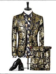preiswerte -Mit Mustern Schlanke Passform Polyester Anzug - Fallendes Revers Einreiher - 2 Knöpfe