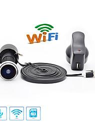 Недорогие -1080p TF карта Wi-Fi аудио дверная проёмка для дома 1080p широкоугольный объектив 1,78 мм (без карты памяти) 2-мегапиксельная IP-камера Крытый поддержка 64 ГБ