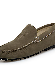 cheap -Men's Moccasin PU(Polyurethane) Spring Casual Loafers & Slip-Ons Non-slipping Gray / Brown / Green