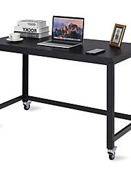Недорогие -Мобильный компьютерный стол со стальной рамой и верхом из черного дерева