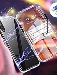 Недорогие -Кейс для Назначение SSamsung Galaxy Galaxy A7(2018) / Galaxy A30 (2019) / Galaxy A50 (2019) Магнитный Кейс на заднюю панель Однотонный Твердый Закаленное стекло