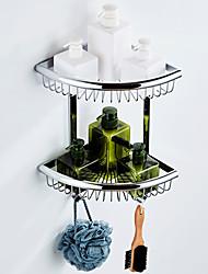 billige -Hylle til badeværelset Flerlags / Nytt Design Moderne Messing 1pc - Baderom / Hotell bad Dobbel Vægmonteret