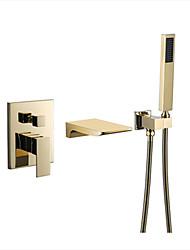Недорогие -Смеситель для душа - Современный Многослойное Другое Керамический клапан Bath Shower Mixer Taps