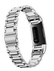 Недорогие -Ремешок для часов для Fitbit Charge 3 Fitbit Спортивный ремешок / Классическая застежка / Дизайн украшения Нержавеющая сталь Повязка на запястье