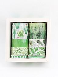 Недорогие -новые креативные наклейки из бумаги / вискозы с рисунком фламинго&и ленты подарочные поделки декоративные наклейки клейкая лента 6шт / коробка