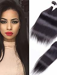 저렴한 -3 개 묶음 브라질리언 헤어 직진 100 % 레미 헤어 위브 번들 인간의 머리 직조 번들 헤어 한 팩 솔루션 8-28 inch 자연 색상 인간의 머리 되죠 오더 프리 창조적 흑인여성 제품 인간의 머리카락 확장 여성용