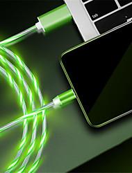 Недорогие -Подсветка Кабель 1.0m (3FT) Быстрая зарядка TPE Адаптер USB-кабеля Назначение iPhone