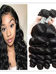 tanie -4 zestawy Włosy brazylijskie Luźne fale Zestawy w 100% Remy Weave Fale w naturalnym kolorze Doczepy Pakiet włosów 8-28 in Kolor naturalny Ludzkie włosy wyplata Bezzapachowy Najwyższa jakość Gorąca