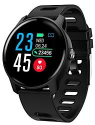 Недорогие -S08 смарт-часы BT поддержка фитнес-трекер уведомления и пульсометр водонепроницаемый круглый экран для мобильных телефонов Android и Iphone