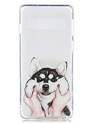 halpa -Etui Käyttötarkoitus Samsung Galaxy Galaxy S10 Plus / Galaxy S10 E Läpinäkyvä / Kuvio Takakuori Koira Pehmeä TPU varten S9 / S9 Plus / S8 Plus