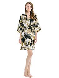 cheap -Women's Satin & Silk Nightwear - Print Color Block