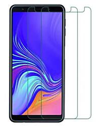 Недорогие -Samsung GalaxyScreen ProtectorGalaxy A7(2018) HD Защитная пленка для экрана 2 штs Закаленное стекло