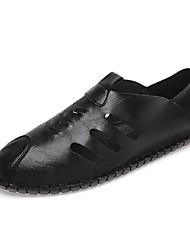 abordables -Homme Chaussures de confort Polyuréthane Eté Mocassins et Chaussons+D6148 Blanc / Noir / Marron
