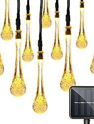 preiswerte -1 Satz LED Laterne Solar Lichterkette 5m 20 Lichtstreifen Wassertropfen geheimnisvolle Wassertropfen Blase Tropfen im Freien wasserdichte Lichter