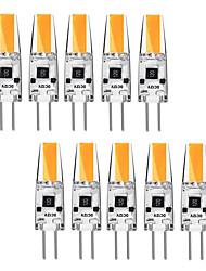Недорогие -KWB 10 шт. 3 Вт G4 светодиодные би-контактный базы 12 В лампочки теплый белый и белый галогеновые G4 30 Вт светодиодные замены