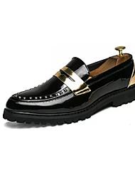 abordables -Homme Chaussures de confort Polyuréthane Eté Mocassins et Chaussons+D6148 Blanc / Noir / Rouge