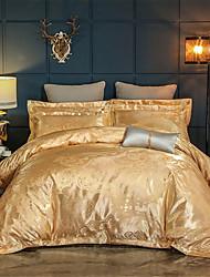 Недорогие -пододеяльники 100% египетский хлопок / роскошный золотой жаккард 4 шт. постельное белье / полный, королева