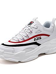 abordables -Homme Sneakers Clunky Maille Eté Sportif / Simple Basket Course à Pied / Marche Respirable Blanc / Noir / Beige