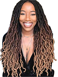 Недорогие -Волосы для кос Кудрявый дредлоки Вязание крючком для волос Дреды / Faux Locs Искусственные волосы косы волос Естественный цвет 18 дюймовый 45 см синтетический Расширения Dreadlock Искусственные дреды