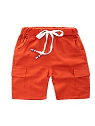 abordables -Enfants Garçon Basique / Chic de Rue Couleur Pleine Cordon Coton Short Marron