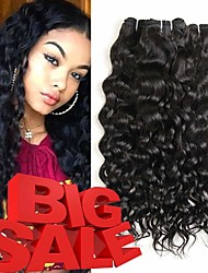 abordables -Lot de 3 Cheveux Brésiliens Ondulation Paquets de 100% Remy Hair Weave Tissages de cheveux humains Bundle cheveux One Pack Solution 8-28 inch Couleur naturelle Tissages de cheveux humains Cosplay