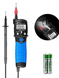 Недорогие -Цифровой мультиметр с ручкой для измерения напряжения - Holdpeak 38C 6000 рассчитывает на сопротивление вольтметра. Диодная емкость прибора хранит данные с подсветкой и фонариком.