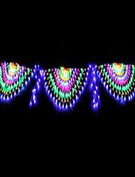 billige -led lantern streng lys påfugl lys fisknet lys juledag udendørs dekorativt lys 3 påfugl 8 funktion kontrol 1 sæt