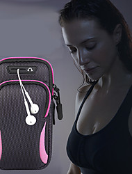 Недорогие -унисекс сумка сумка рука сумка спортивная сумка для бега тренажерный зал рука с держателем сумка для мобильного телефона гарнитура сумка водонепроницаемый 6,4 дюйма