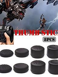 Недорогие -игровой контроллер аксессуары нескользящей рукоятки большого пальца стержень высота грибовидной головкой силиконовая крышка ps4 xbox ps3 x360 8 шт.