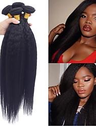 저렴한 -4 묶음 브라질리언 헤어 곱슬머리 스트레이트 100 % 레미 헤어 위브 번들 인간의 머리 직조 번들 헤어 인모 연장 8-28inch 자연 색상 인간의 머리 되죠 오더 프리 섹시 레이디 뜨거운 판매 인간의 머리카락 확장 여성용