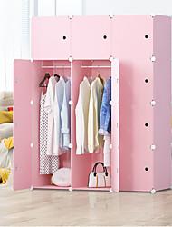 levne -jednoduchá šatní skříň diy jedna osoba šatní skříň plastová kombinace přenosná skříňka kombinace skříňka