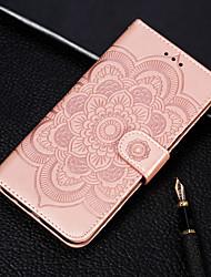 Недорогие -Кейс для Назначение Huawei Huawei P30 / Huawei P30 Pro / Huawei P30 Lite Кошелек / Бумажник для карт / со стендом Чехол Цветы Твердый Кожа PU