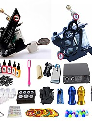 cheap -BaseKey Tattoo Machine Starter Kit - 2 pcs Tattoo Machines with 7 x 15 ml tattoo inks, Professional, New Alloy LED power supply Case Not Included 18 W 2 alloy machine liner & shader