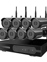 Недорогие -1 миллион 8-полосная 720p ночного видения высокой четкости беспроводная камера видеонаблюдения WiFi набор умный дом магазин мобильный телефон удаленного открытый водонепроницаемый