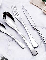 Недорогие -посуда 4шт Экологичные Новый дизайн Нержавеющая сталь Столовая вилка Столовый нож Дессертная ложка