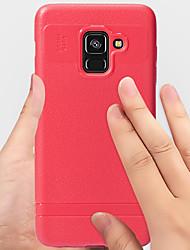 ราคาถูก -Case สำหรับ Samsung Galaxy A8 2018 Shockproof / Dustproof ปกหลัง สีพื้น Soft TPU สำหรับ A8 2018