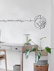 お買い得  -創造的なバラ取り外し可能な壁のステッカー - 平面壁のステッカー交通機関/景観研究室/オフィス/ダイニングルーム/キッチン