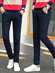 tanie -Męskie Podstawowy Typu Chino Spodnie - Solidne kolory Khaki