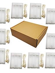 Недорогие -10 шт. 2 м 20 светодиодов фея светодиодные огни строки 3aa батареи серебряный провод многоцветный / белый / теплый белый вечеринка / праздник / свадьба / декор дома