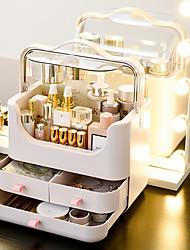 levne -kosmetické skladovací krabice stolní prachotěsné péče o pleť dokončovací box šatní stolek skladování