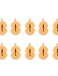 Недорогие -профессиональный Аксессуары для скрипки / Инструменты VT0908-221 Скрипка Натуральная резина Аксессуары для музыкальных инструментов 2.7*0.7*1.8 cm