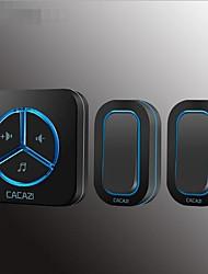 Недорогие -умный беспроводной дом дверной звонок два буксировки один обмен обучения цифровой водонепроницаемый пульт дистанционного управления вызывающего абонента дверной звонок