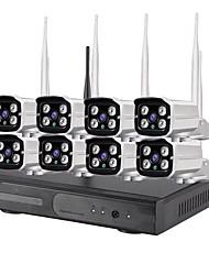 Недорогие -8-канальный 1080p H.265 HD беспроводной NVR Kit Система безопасности Wi-Fi Ip Kit