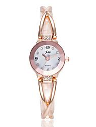 preiswerte -Damen Quartz Uhr Freizeit Modisch Silber Rotgold Legierung Chinesisch Quartz Silber Schwarz / Silber Rotgold Niedlich Kreativ Armbanduhren für den Alltag 1 Stück Analog